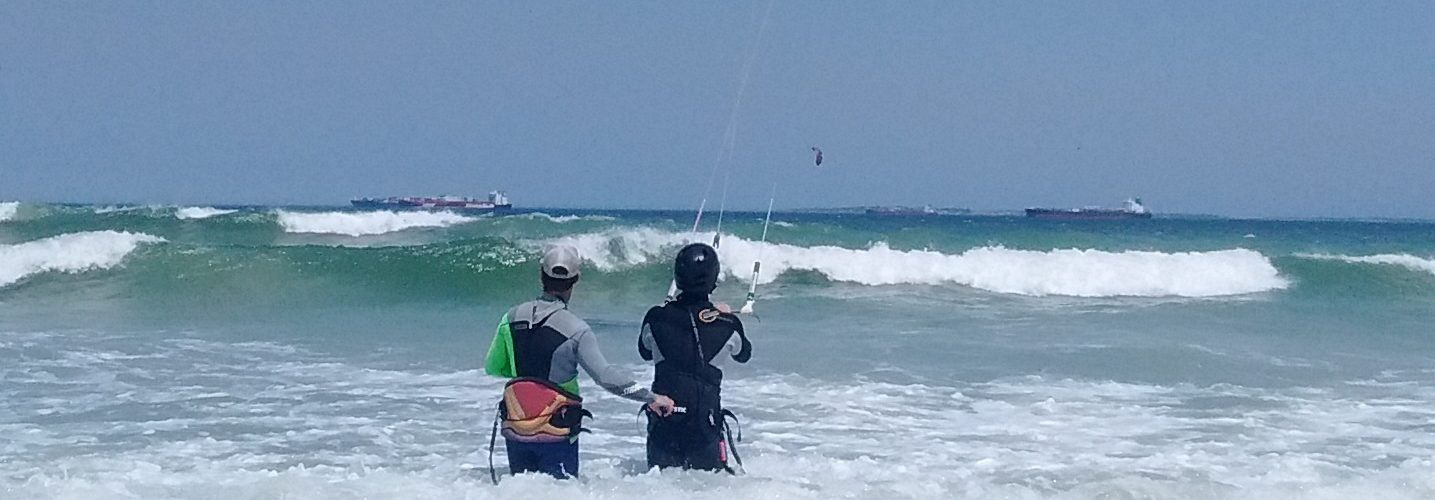 Dale Teaching kitesurfing in Cape Town